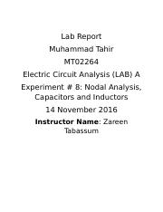 Experiment 8 - Lab Report
