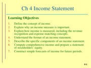ch 4 Income statement