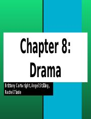 Chapters 8 & 9 Arts Integration