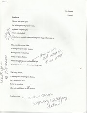 Goodbyes Poem and Self Evaluation