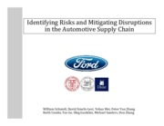 2015 Identifying Risks and Mitigating Disruptions in the Automotive Supply Chain (presentation)