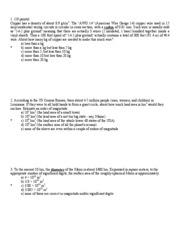 PHYS-1100 Spring 2010 Exam 1 answer key