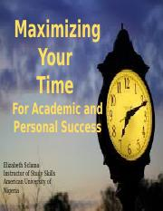 AUN101 Maximizing your Time- Organization and Strategies.pptx
