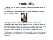 Probability (1) introduction