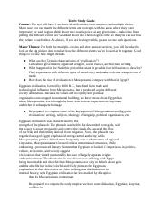 Test Study Guide 1 and notes