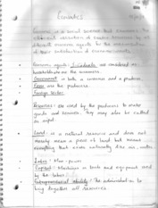 Economics Chapter 01 Notes