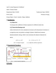 Lab D_ Linear Expansion Coefficent.docx