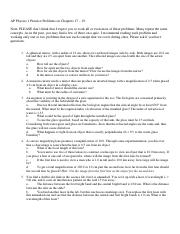 AP Physics 1 Practice Problems on Chapters 17 - 19.pdf