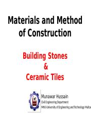 3. building stones, Tiles  and Site Orientation.pptx