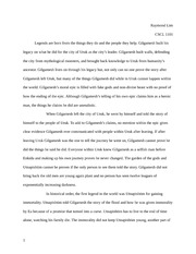 Causes Of The Great Depression Essay Gilgamesh  Pages Literature Essay One Beauty Is In The Eye Of The Beholder Essay also Essay Ouline Gilgamesh Quest Essay  Allison Cowie Huhc  H The Quest For  Excellent Essay Writings
