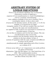 ARBITRARY SYSTEM OF LINEAR EQUATIONS