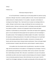 Performance Response Paper 1