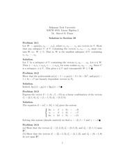 Math 4003 Linear Vectors