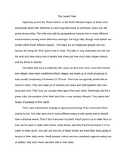 The Green Tribe Essay