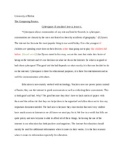 Cyberspace Essay