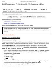 LAB Assignment 7 - Casino with Methods and a Class.pdf
