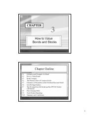 Chapter 03 - Bond and stock valuation