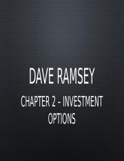 chapter one - dave ramsey summary essay (chapter 5) secondly, people don here is a brief summary of the what money problems on dave ramsey's the total money makeover review dave ramsey's the.