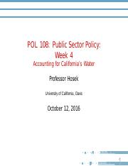 Lecture Slides - Week 4 - CA Water