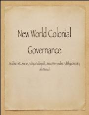 Colonial Governance