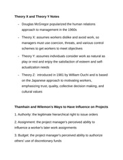Theory X and Theory Y Notes