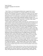 Cesar chavez essays