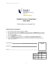 Sample Exam Solution2