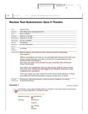 Quiz 2 Theatre – IAS 108 Summer ...