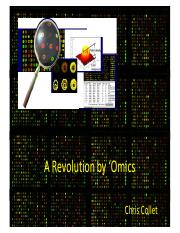 Lecture 10-The Omics Revolution