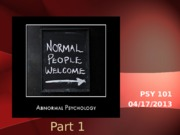21 Abnormal Psychology Part 1 student version