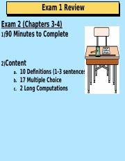 Introductory Accounting - Exam 2 Review.ppt