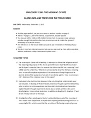Term Paper Guide