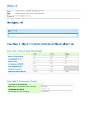 Antacid Analysis and Titration - Experimentation report.pdf