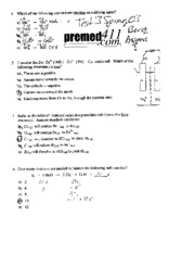 CHM 112 Spring 2003 Practice Test