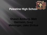 Group Project-Palestine High School