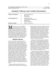 metabolic pathways and feedback mechanisms - 7
