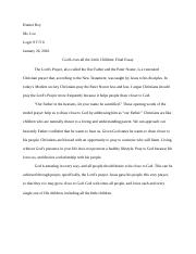 Lord's Prayer Essay.docx