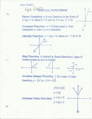 math 100 special functions notes