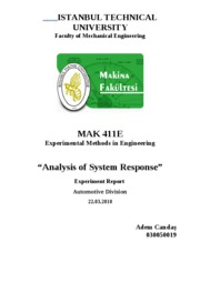 Experimental Analysis of System Response