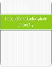 2 Introduction to Carbohydrate Chemistry.pptx