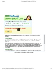 Learning Styles Quiz Results _ HowToLearn