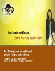 Risk Management Using NAC and Similar Tech - NWU.ppt