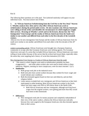 History 403-Essay Outlines