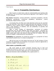Part 3 Probability Distributions