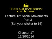 Lecture 12 - social movements - Part 3