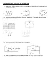 Equivalent Resistance Practice problems