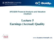 Lecture 5 AFC3230 Earnings Quality
