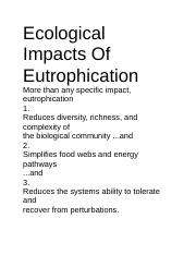 Ecological Impacts Of.docx