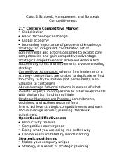 Class 2 Strategic Management and Strategic Competitiveness.docx