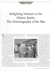 Catton_Refighting Vietnam History Books_OAH_Oct 2004(2)